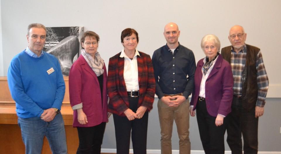 BilduReferentin Cordula Meyer (2.v.l.) mit Vorstandsmitgliedern der Senioren Union sowie dem Leiterteam des Arbeitskreises Innere Sicherheit.