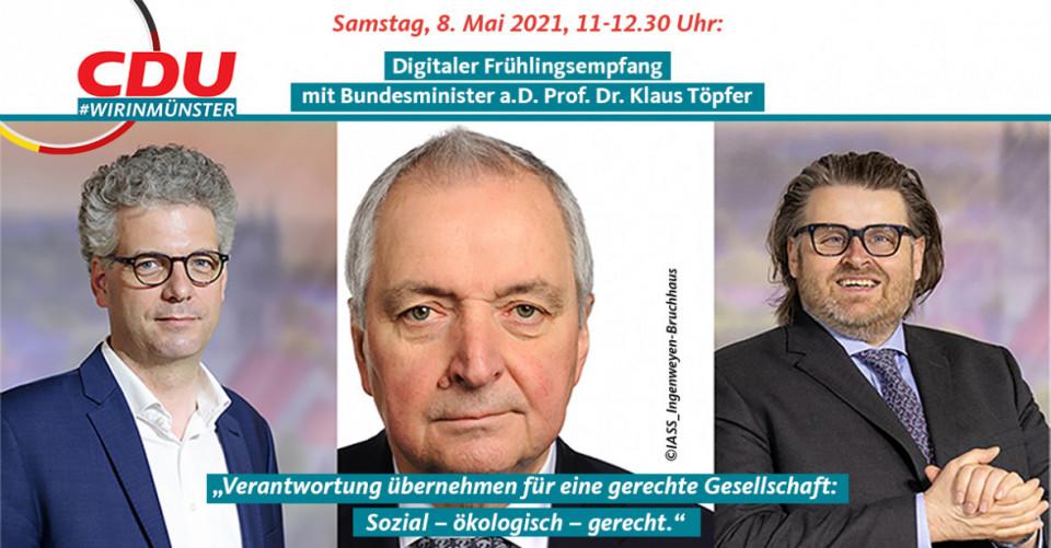 Digitaler Frühlingsempfang mit Bundesminister a.D. Prof. Dr. Klaus Töpfer